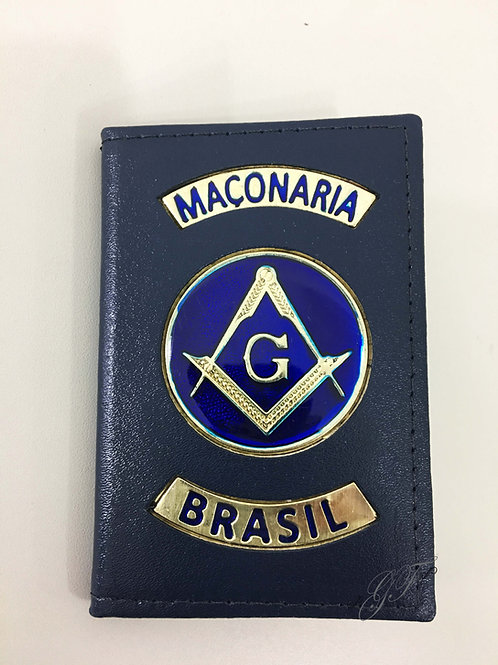 CAPA MAÇONARIA BRASIL logo azul couro azul