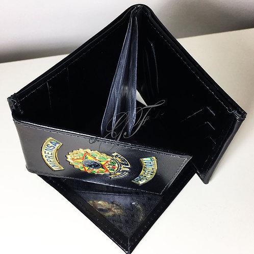 Carteira IMPRENSA PROFISSIONAL porta notas cheque cartões COURO
