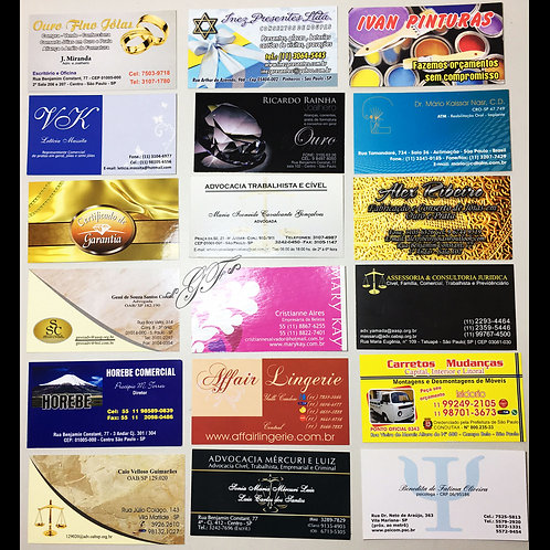 Cartões de Visita verniz brilhante 90g 1.000 unidades