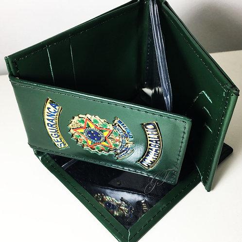 Carteira SEGURANÇA DO TRABALHO porta notas cheque cartões COURO
