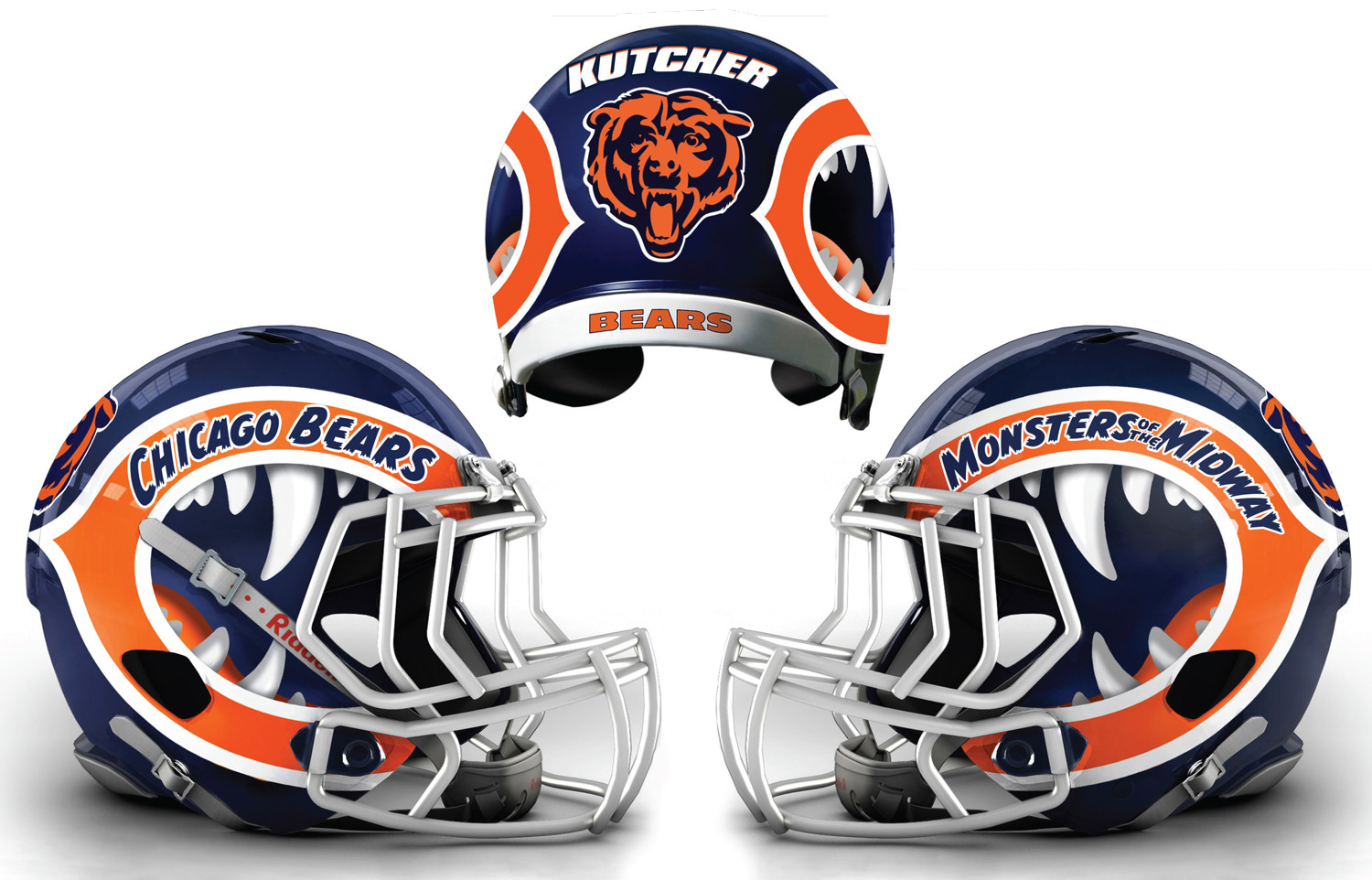 ASHTON KUTCHER BEARS NFL HELMET