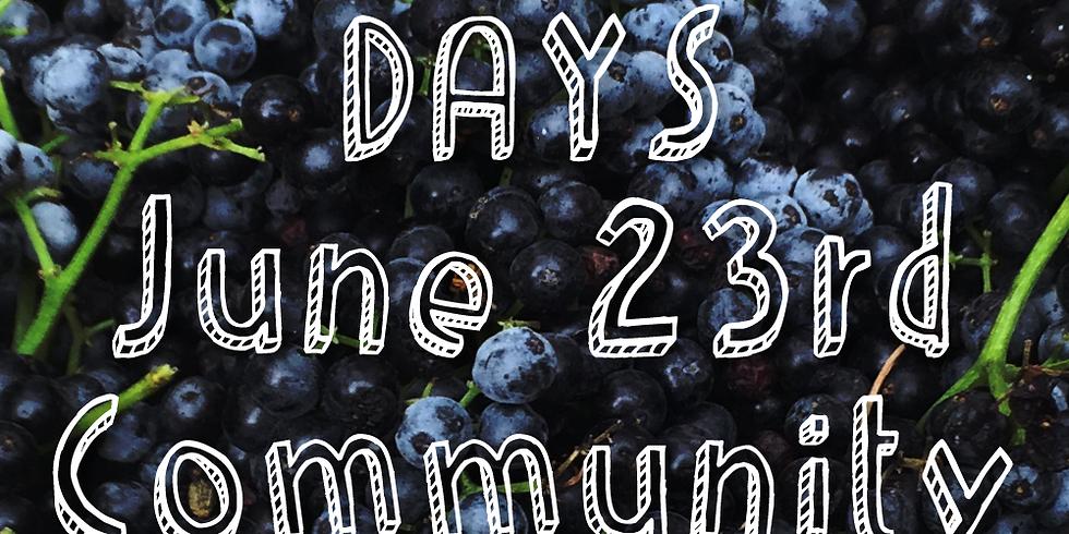 Elderberry Days 2018 June 23rd