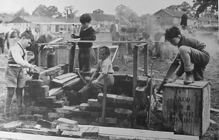 The first Adventure Playground in Emdrup, Denmark during the German occupation of the 1940s.