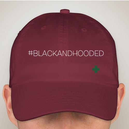 "#BlackandHooded ""Dad Cap"" Crimson"