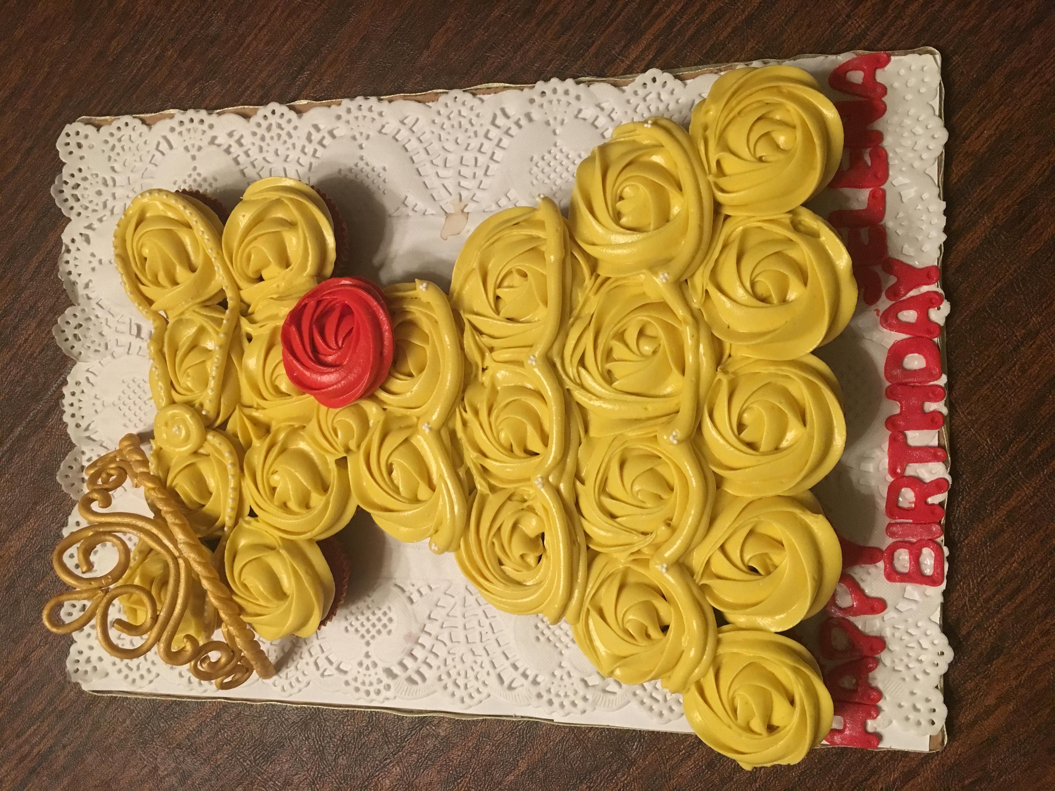 Beauty and the Beast Cupcake Dress