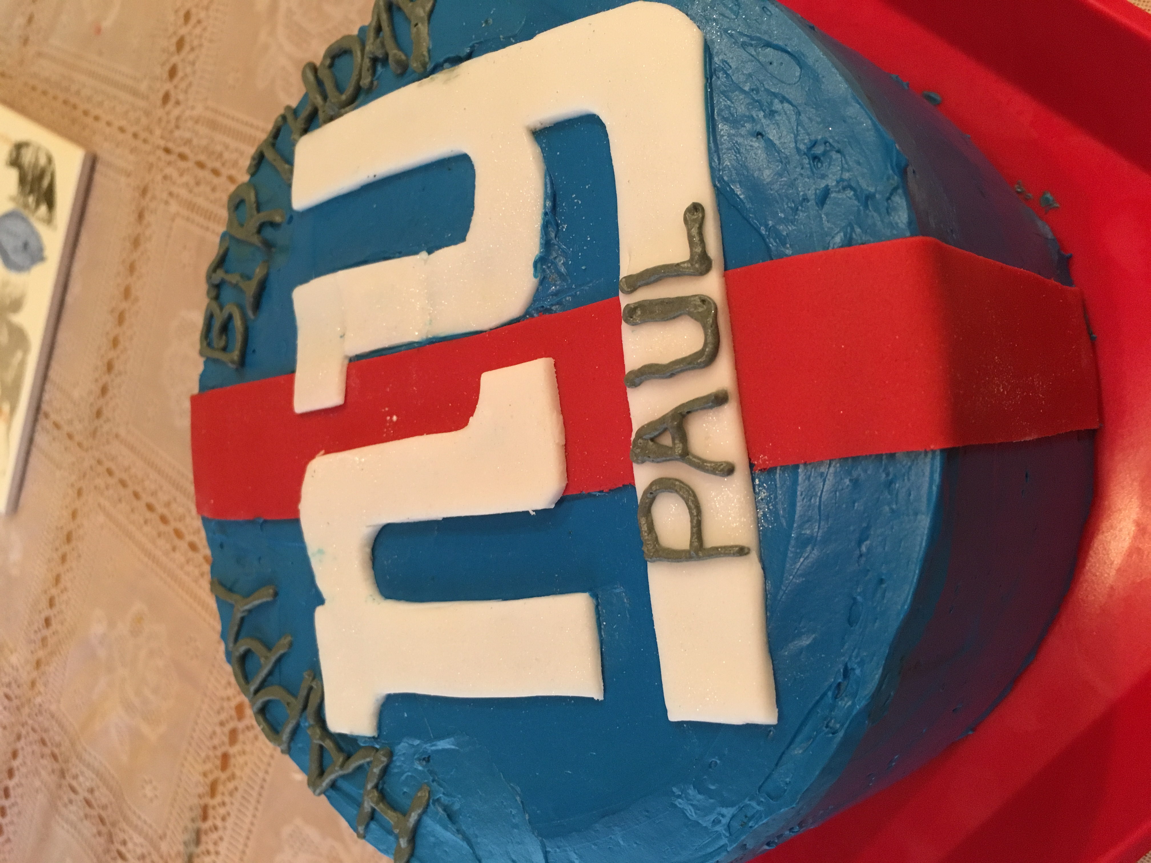 NY Giants Birthday Cake