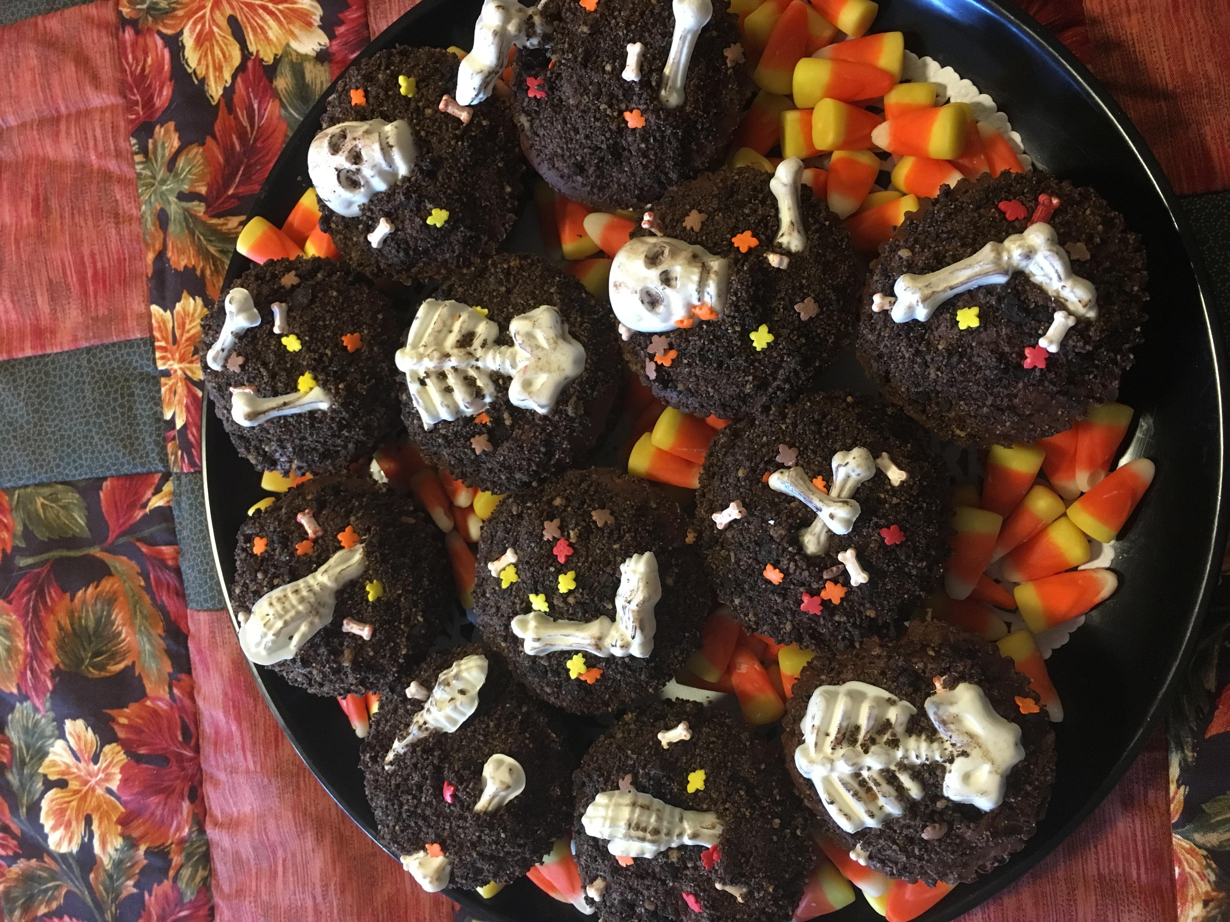 Halloween Bones in the Dirt