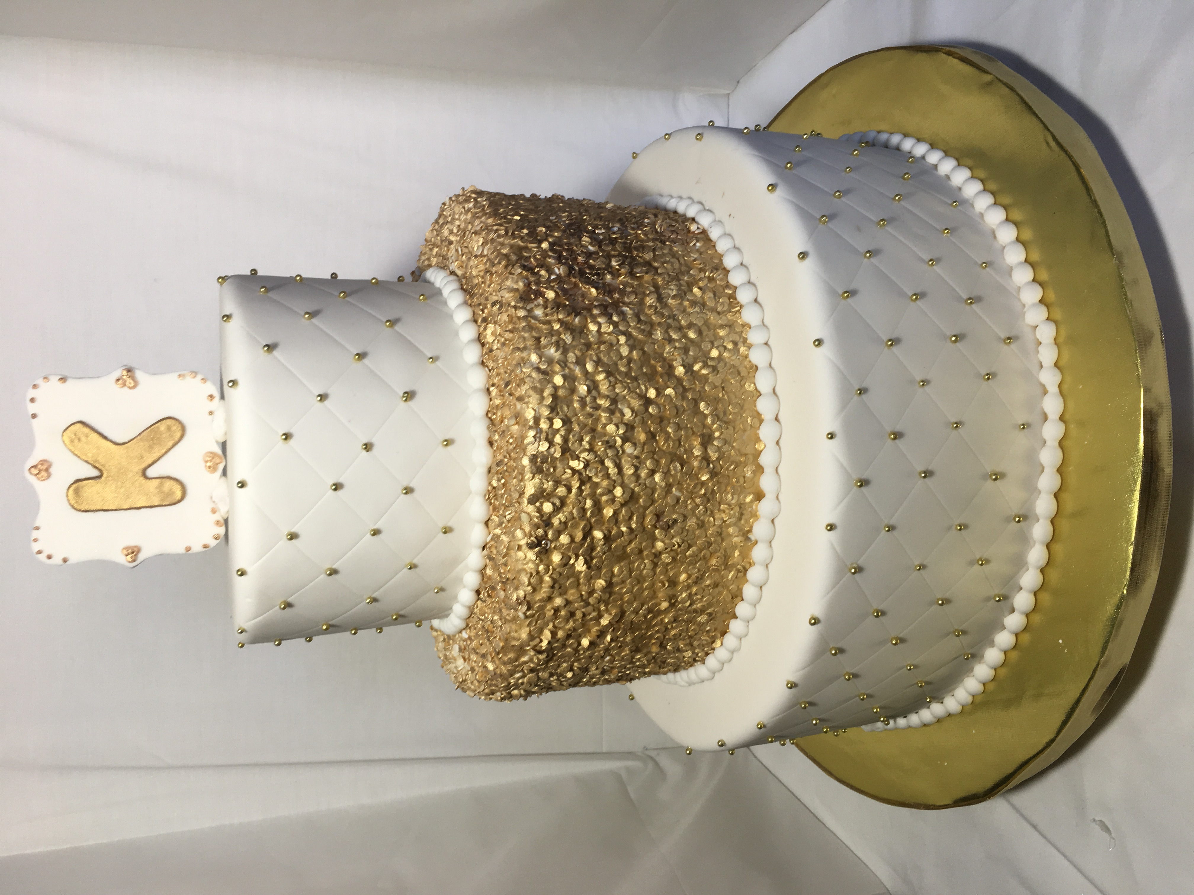 Gold and White Sweet 16