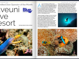 SEVENSEAS Article on Blue Certified Dive Operator of the Month: Taveuni Dive Resort