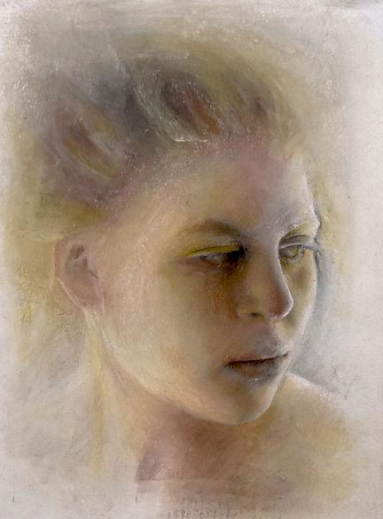 Study of model in pastel Final 11-23-19