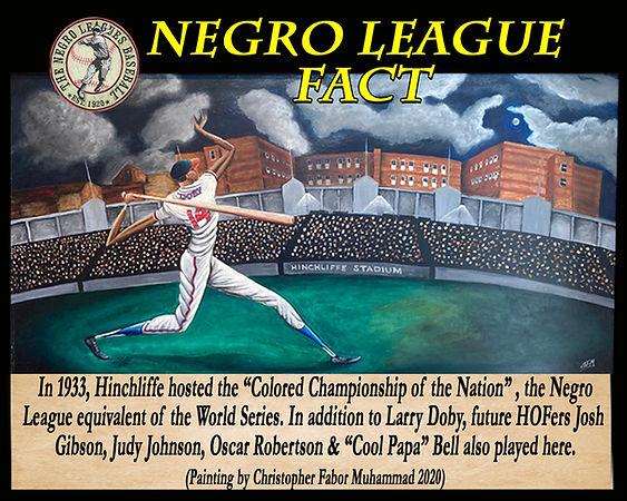 BB Negro League Fact Hinchliffe w painti