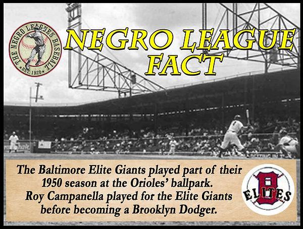 BB Negro League Fact Baltimore Memorial