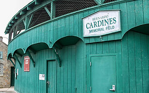 BP Cardines sign entrance and 1937 stone