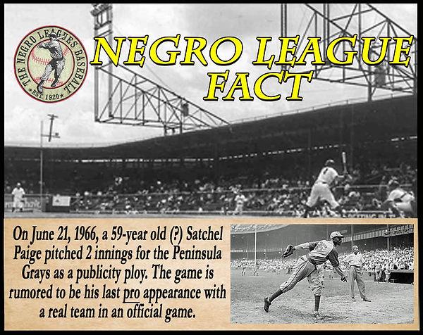 BB Negro League Fact Hampton War Memoria