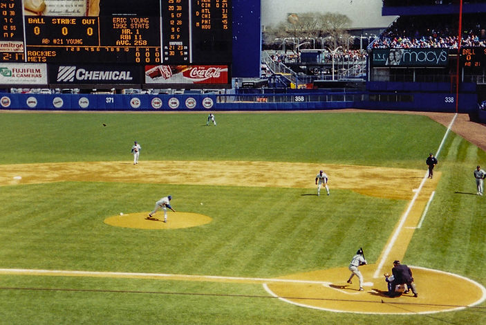 First Pitch in Rockies Histor, Shea Stadium, NY