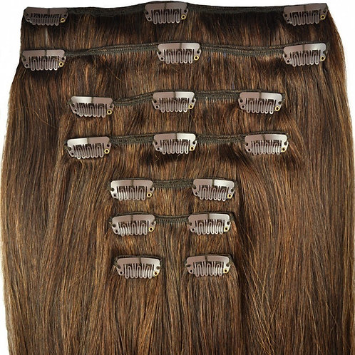 8 Piece Clip In Set - Human Hair