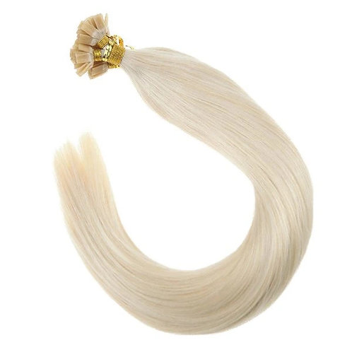 Platinum Blonde - Hot Fusion Flat Tip Bonded Extensions
