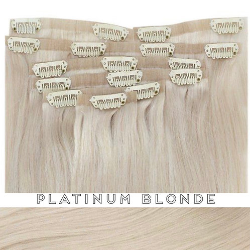 Platinum Blonde - Seamless Flat Weft Clip Ins