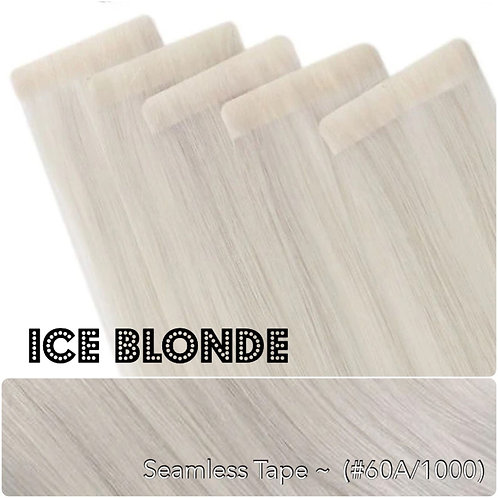 Ice Blonde - Seamless Invisible Tape Extensions