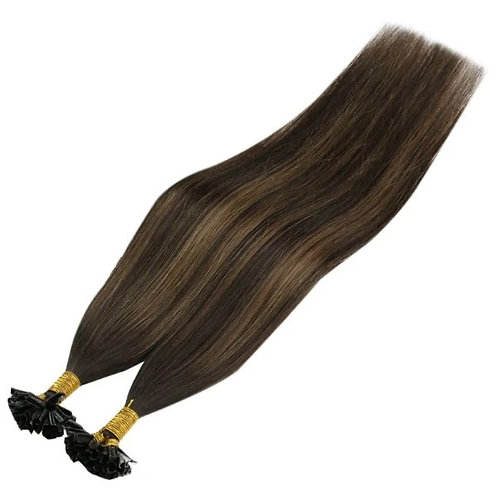 Brown Sugar - Hot Fusion Flat Tip Bonded Extensions