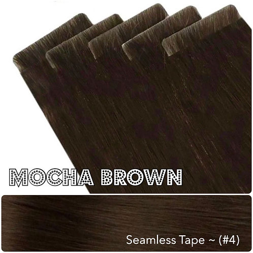 Mocha Seamless Invisible Tape Extensions