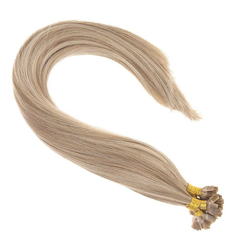 Sun Kissed Blonde - Hot Fusion Flat Tip Bonded Extensions