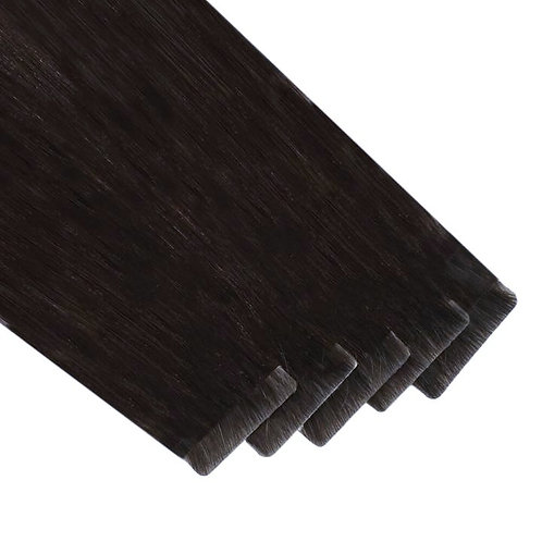 Coco Brown/Black - Seamless Invisible Tape Extensions