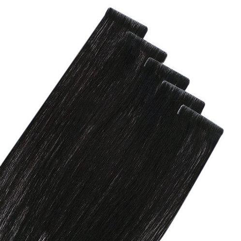 Black Velvet - Seamless Invisible Tape Extensions