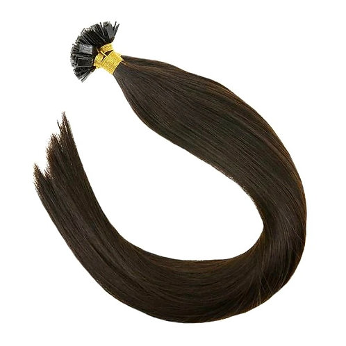 Chocolate Brown - Hot Fusion Flat Tip Bonded Extensions
