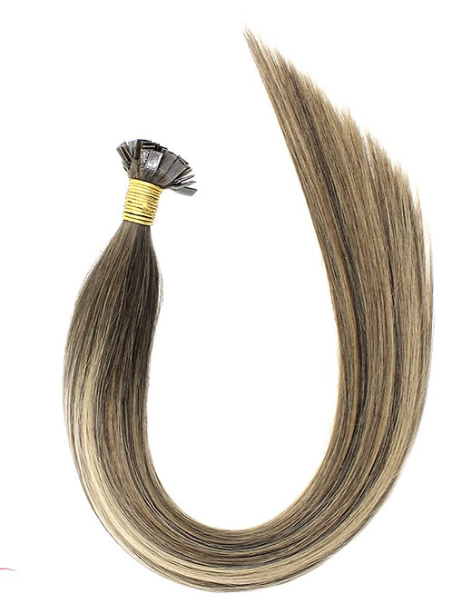 Mochaccino - Hot Fusion Flat Tip Bonded Extensions