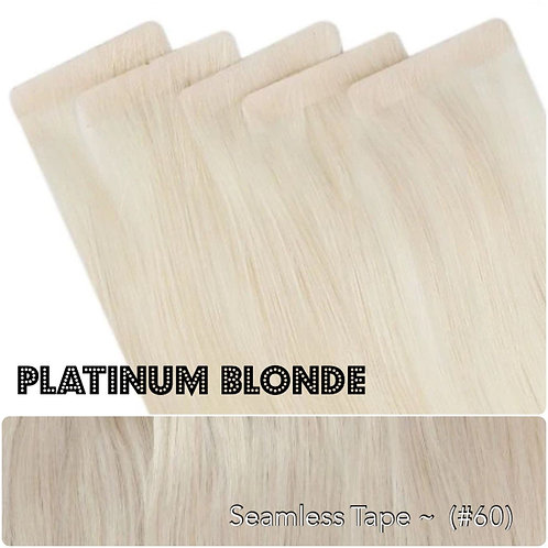 Platinum Blonde - Seamless Invisible Tape Extensions