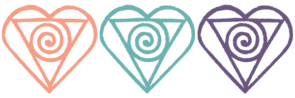 Image of the IPBB logo. Three heart/triangle/spiral shapes in pink blue and purple.