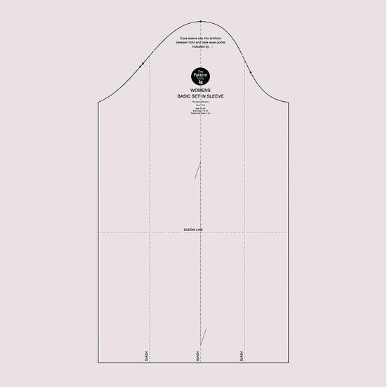 Womens Basic Sleeve Block - PDF, A4