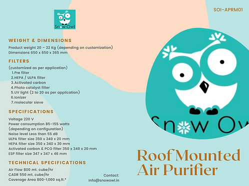COMING SOON: Roof Mounted Air Purifier with 7 Stage Filtration