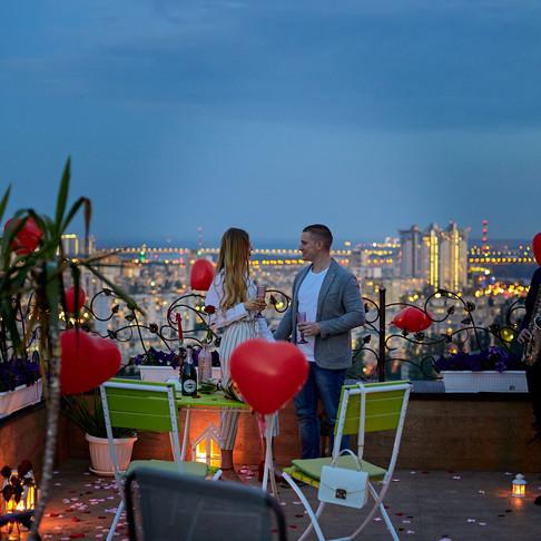 Романтический ужин на террасе