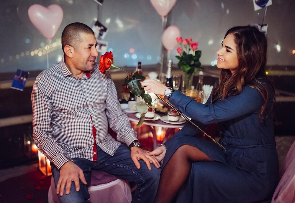 Романтический ужин с цветами, Киев, Альтечо