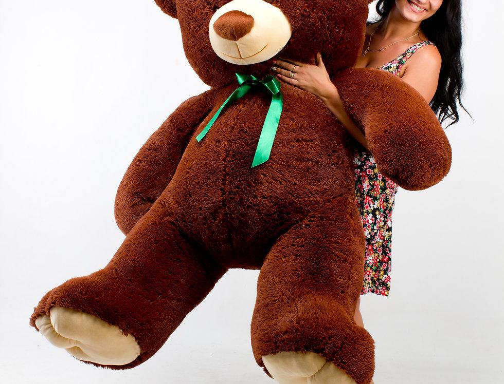 Шоколадный Плюшевый мишка Томми 1м 90 см на подарок девушке