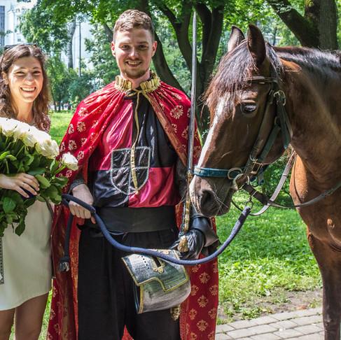 """Предложение руки и сердца """"Принц на коне"""""""