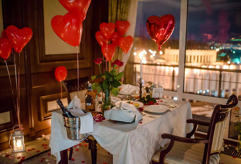 Romantic dinner from Altecho in the restaurant