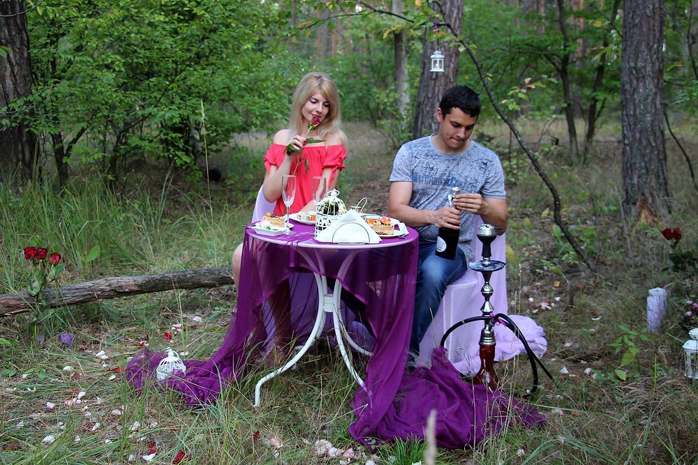 Ужин в лесу с доставкой на лошадях 6
