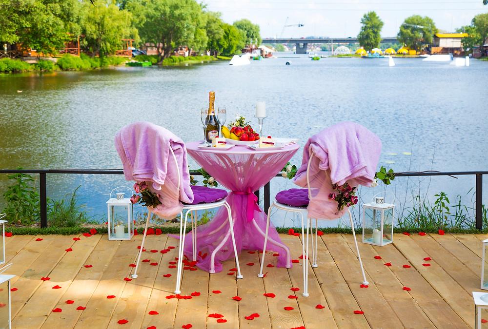 Романтический ужин на пляже в Киеве, Сервис романтики Альтечо