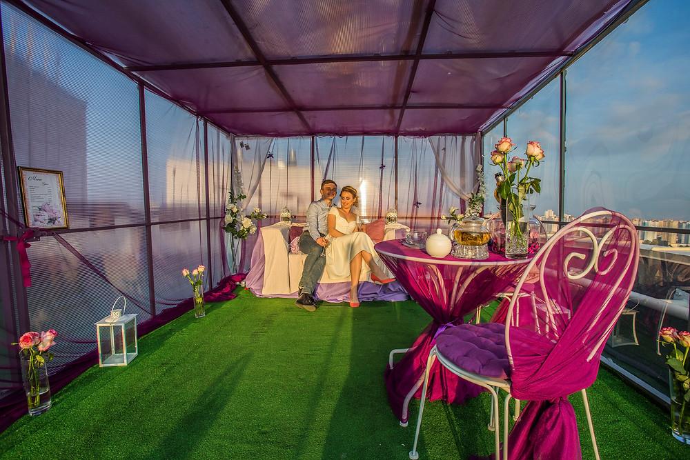 Ресторан на крыше Киев, Сервис романтики Альтечо