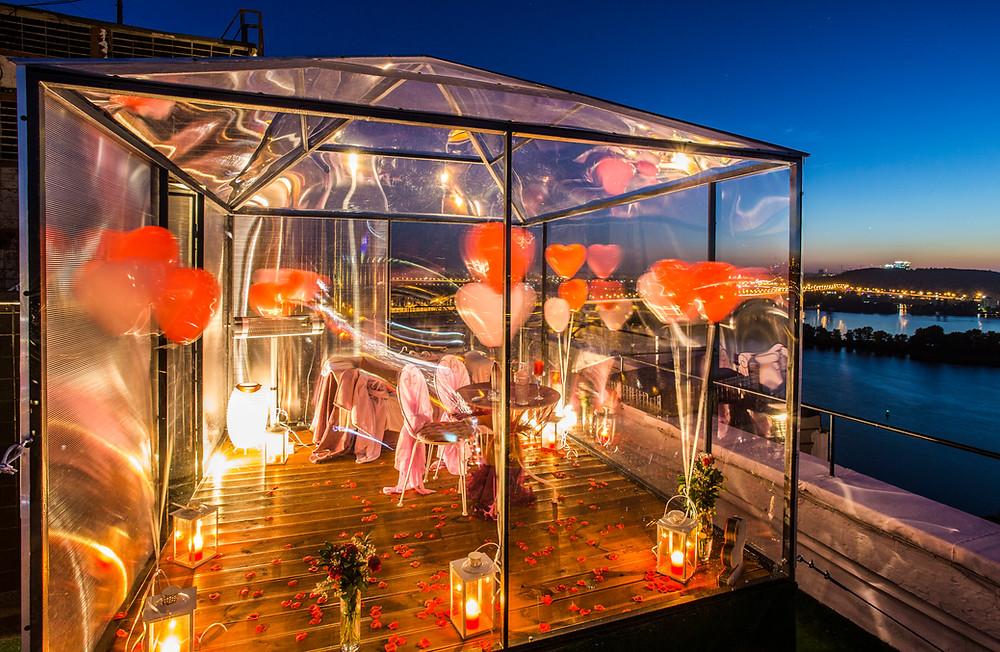 Теплая версия свидания на крыше, Киев, Сервис романтики Альтечо