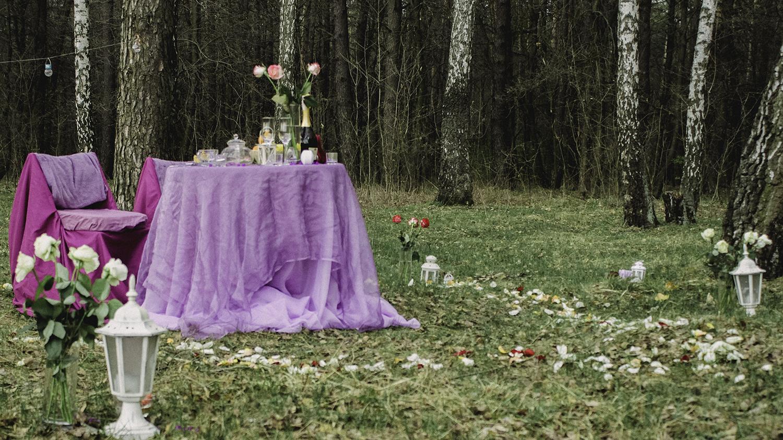 Альтечо, романтический ужин в лесу (1)
