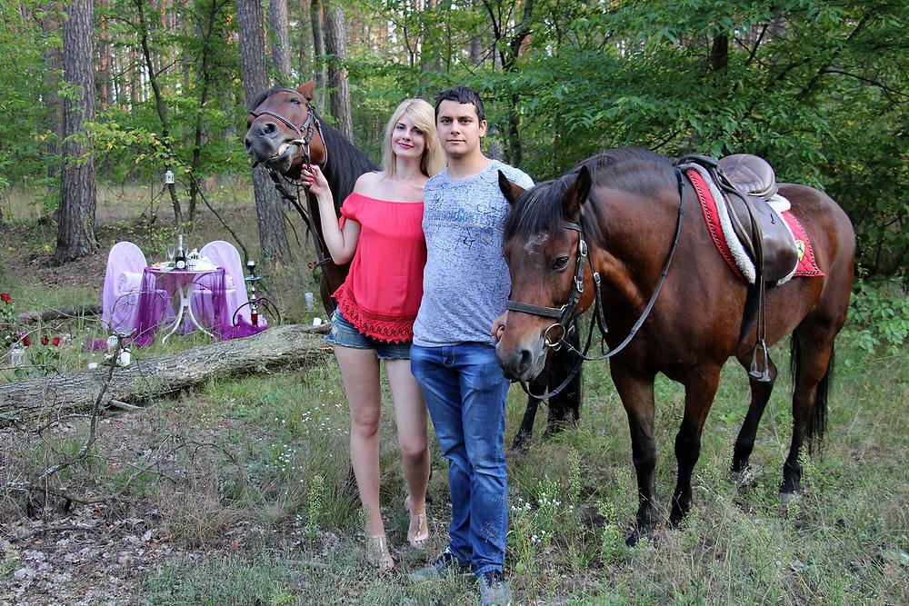 Ужин в лесу с доставкой на лошадях 4