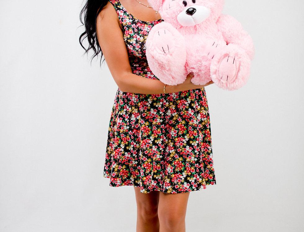 Розовый Плюшевый мишка Гриша 50 см на подарок девушке