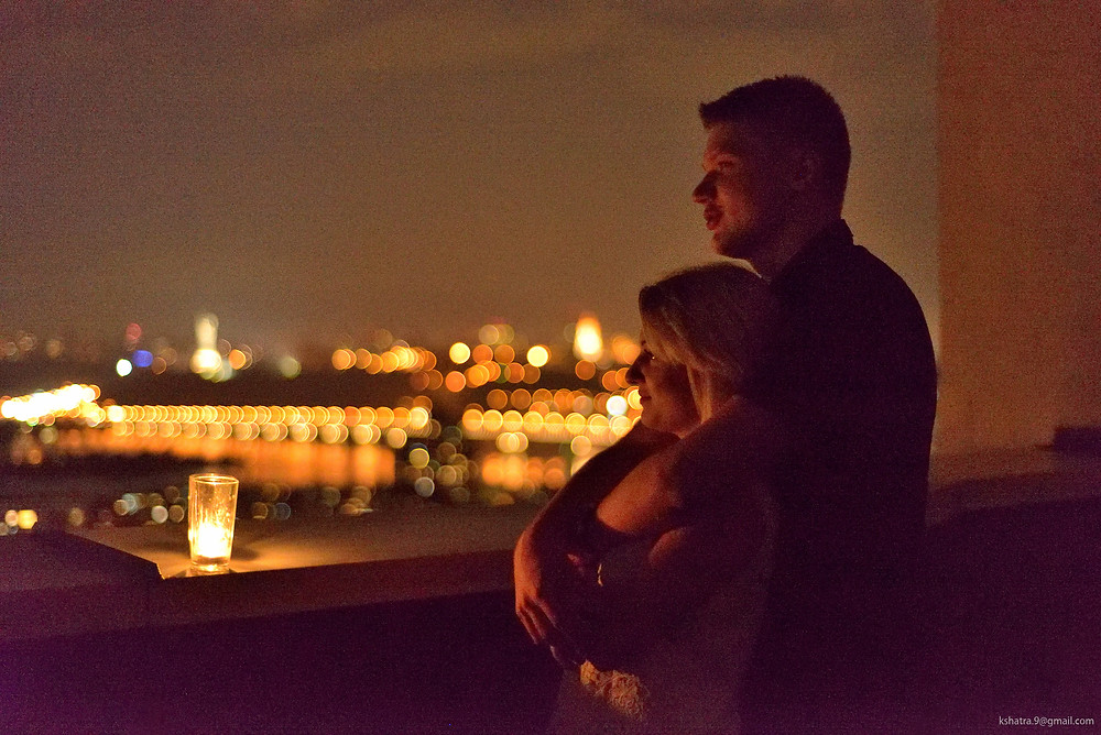 Ночная фотосессия на крыше Альтечо
