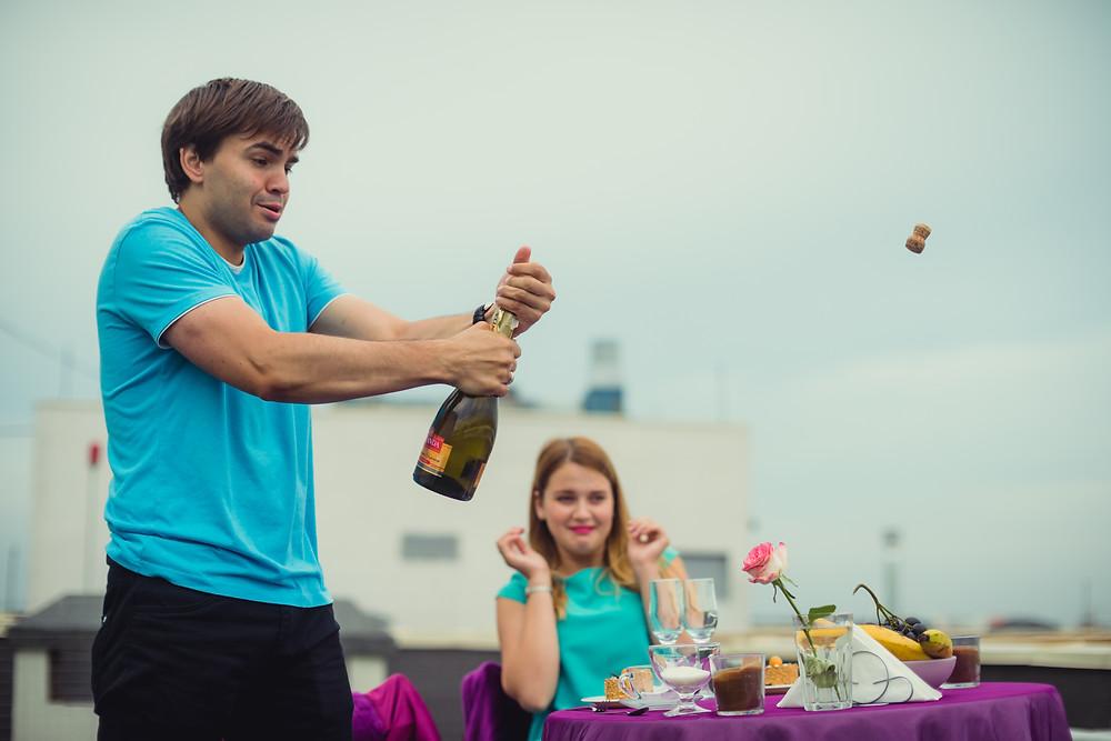 Чай, шампанское, свидание на крыше