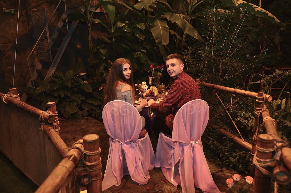 Предложение руки и сердца в оранжерее в тропиках, Киев, Альтечо