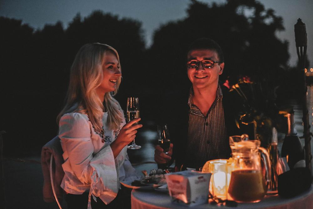 Ужин на плоту, Киев, Сервис романтики Альтечо